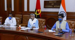 The First Angola-India Joint Commission Meeting was co-chaired by the External Affairs Minister of India, Dr. Subrahmanyam Jaishankar, and the Minister of External Relations of the Republic of Angola, Ambassador Téte António