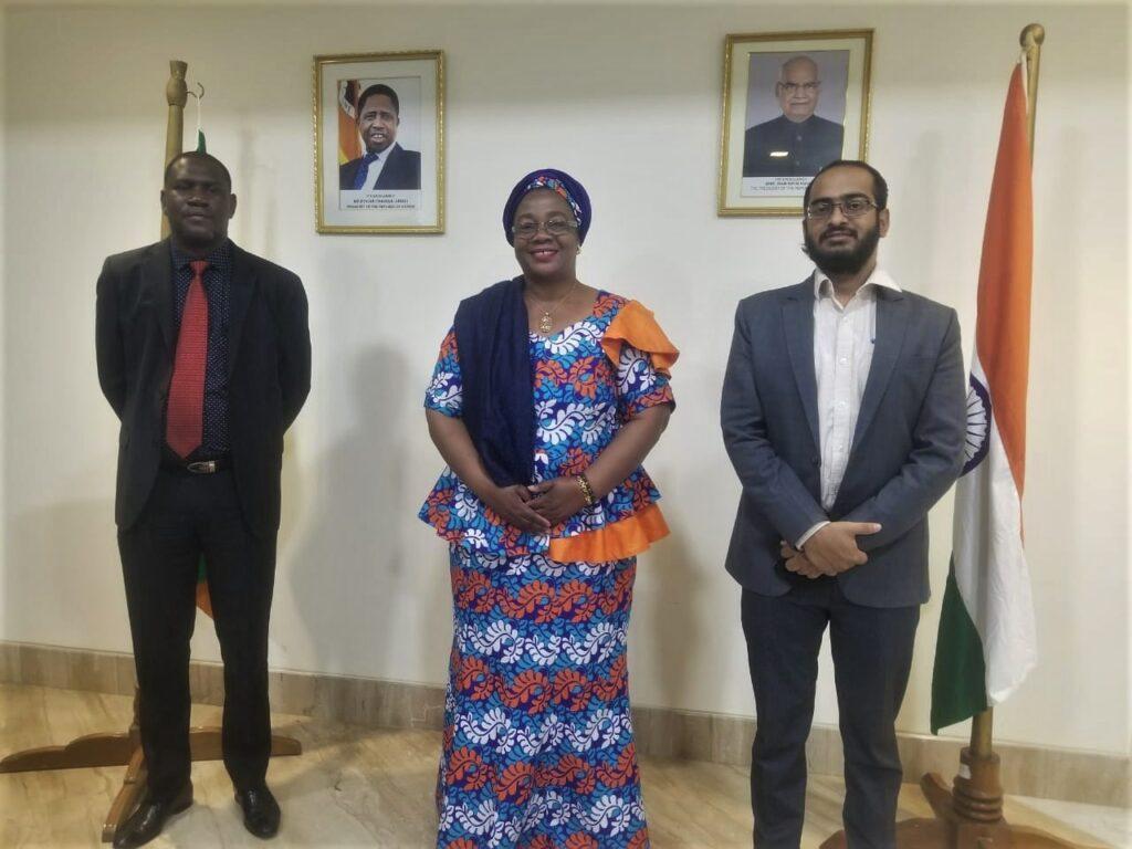 Zambia's High Commissioner to India Judith Kapijimpanga recently met Kalinga Institute of Industrial Technology, Manager for International Relations Rahul Varma.